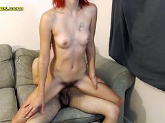 They are even streaming on live webcams to make some bucks since her husband is not at home and they can enjoy and make money! She is very sexy short hair milf with red hair seduced by her friend on and his big cock that she can ride so long and never get enough!