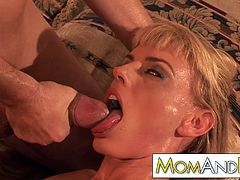 blonde Mom Darryl Hanah gets lost and takes it deep in her tight MILF ass while riding the dick