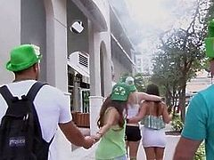 Amateur Hot Teen Partygirls Record Orgy From St. Patricks Day