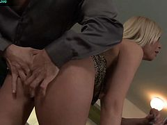 Donna Bell takes Choky Ice and Titus Steels cocks