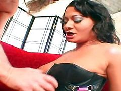 Gorgeous European babe Sandra gets a dick in the butt