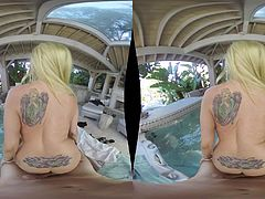 Christie Stevens and Sarah Vandella are blondes who want to feel a rod