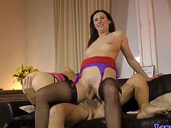 Glamour mature fucks husband with eurobabe