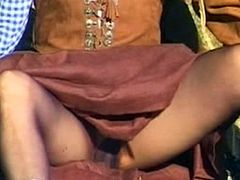 Anne Andersson sucking Dick and getting fucked outdoors