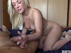 Scotish Babe enjoying a wild cock ride