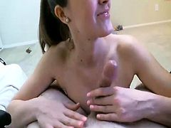 Big titted Aliana Love gives POV handjob
