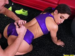 curvy babe prefers anal instead of sports training