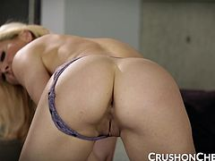 Cherie Deville caught her bf watching her in the shower, so she made a sexy video for him. Cherie strips nude and masturbates until she gets off!