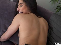 Abella wants to try anal for the first time, so she meets a guy who will stick his big cock deep into her tight asshole. The big cock in her ass made her have the best orgasm of her entire life. Now she wants him to cum inside of her.