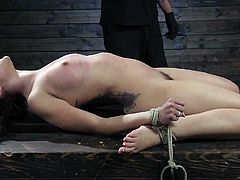 Pain Slut Begs for Torment While Suffering in Bondage