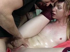 She starts sucking his cock, pumping her spit all over his shaft, when her mom walks in on them Erica Lauren gets turned on the minute she sees what theyre up to, and decides to join in. Mom only watches and masturbates, until she points out a few things Katy could do better. They all end up cumming, and Katy gets a mouthful of jizz while mom cheers her on