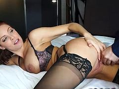 Britney Amber fucked in sexy lingerie