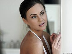 Amazing Tina Kay likes to play with a dick more than anything