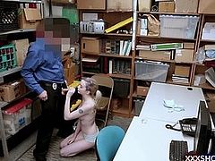 Teen shoplifter suspect got caught and punish fucked