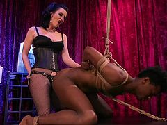 ebony sex slave gets fucked in the ass