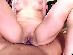 Nothing like a little dazzle to bring men to their knees This mature babe loves a good dick and she gets it up her ass good until she drinks cum from a glass