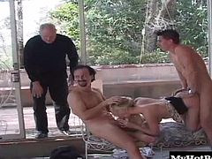 Shes all about being filled with multiple cocks in this hardcore gang bang scene. Not only does she suck and fuck at the same time, but she offers up her pussy and ass for deep double penetrating action.