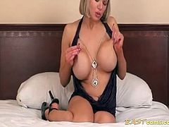 Huge Tit MILF Bed Masturbation