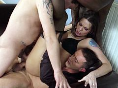 Sweet Simony Diamond gets her ass destroyed with two big cocks