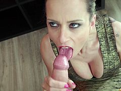 Tattooed chick Helena Kramer rides a dick like there is no tomorrow