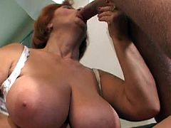 Granny Mathilda swallows a big cock