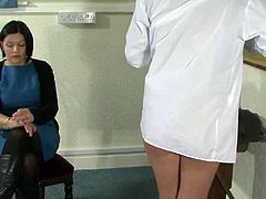 Caned schoolgirls
