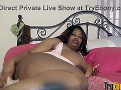 Chunky ebony BBW gal with monster ass and huge tits