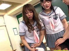 Ikoma Haruna Miyazaki Aya And Palls Do Femdom Pissing In Guys Mouth Hit Him Jerk Him Off Excellent S