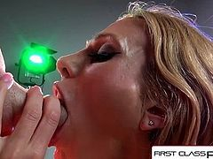 FirstClassPOV- Sarah Jessie take a monster cock in her throat