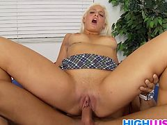 Hot blonde schoolgirl Macy Cartel gets nailed