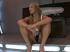 Amy brooke takes machines in her a-hole