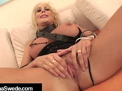 Hot Amazon Blonde Puma Swede Slapped & Super Mouth Fucked!