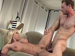 Naughty Katie Morgan seduces a handsome lover for a fuck