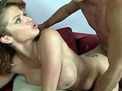 Hot Joslyn James makes a long dong disappear in her pussy