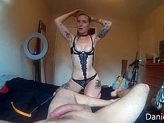 BDSM Amateur Fucked Rough with Leash Doggystyle Girl on Top