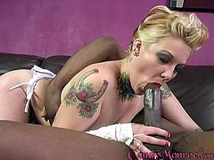 Black guy finally gets to fuck Candy Monroe in front of her boyfriend