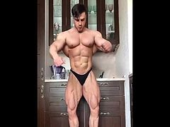 Wide V Bodybuilder Posing