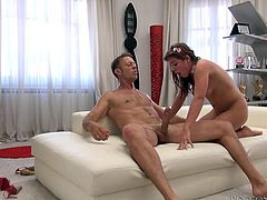 This is perhaps the roughest sex this beauty has ever had in her life. Rocco pounds her tight pussy hard from behind and face fucks her hard. His thighs are wrapped so tightly around her, as she deepthroats his big cock.