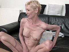 skinny short hair mature 2