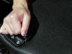 He was being such a bad boy and he needed to be punished. After trying on a new thong, she bent him over and spanked him so hard, that his ass turned red. This divine goddess is in charge of everything he does. His goal is only to please her.