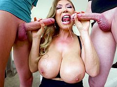Smoking hot Kianna Dior knows how to satisfy two cocks at once