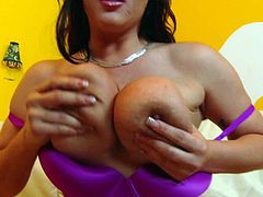 Claire Dames Gets Spunk All Over Her Big Melons