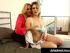 Breasty golden-haired mother i'd like to fuck julia ann finger copulates sexy siri pornstar!