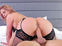 Bodacious milf in sexy lingerie Phoenix Marie goes wild on a hard cock