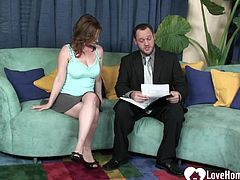 Irresistible wife in high heels gets fucked in a couple of different positions.