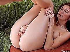 Redhead Pleasures Her Pussy