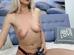 Hot Blonde in a Close Up Pussy Masturbation