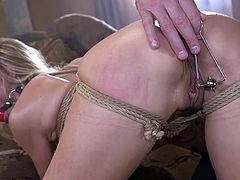 The busty blonde likes to be dominated, punished and fucked. Charles Dera knows how to treat her right and in this bdsm sex session he made the stunning milf cum in no time... Relax and have fun! Hot!