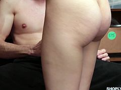 Shoplifting chick Tory Bellamy gets her pussy fucked and punished