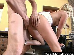 Skilled blond bitch Carla Cox serves one young dude like nobody else before
